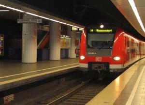 S-Bahn tief unter München