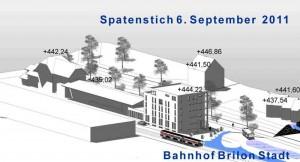 Schaubild Neubau Bürohaus und Bahnhof Brilon Stadt