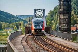 Nationalparkbahn auf der Elbbrücke Bad Schandau_Foto Neumann